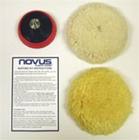 Novus 123 Plastic Polish and Buffing Kit COMBO
